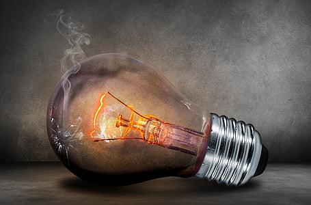 bombilla de luz, actual, luz, resplandor, Lámpara de efluvios, filamento, energía