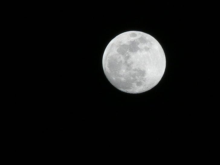 місяць, ніч, небо, повний місяць, Нічне небо, Кратер, небо і місяця