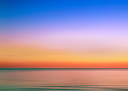 plaj, parlak, Sakin suları, bulutlar, Şafak, Dusk, akşam