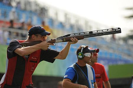 shooter, lövés, pisztoly, puska, csapda, olimpia, verseny