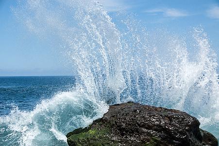 onda, acqua, oceano, iniettare, Tenerife, natura, mare