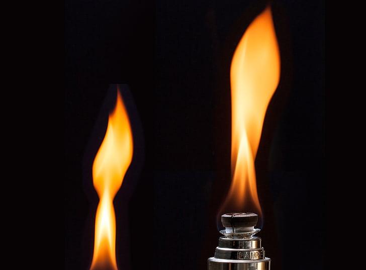 Làmpada, flama, groc, fragància de sala, millora de l'aire, cremar, foc