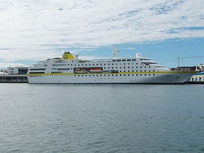 Island, Reykjavik, port, skib, krydstogt, turisme, havet