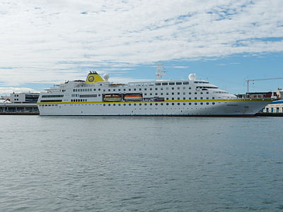 Island, Reykjavik, hamn, fartyg, kryssning, turism, havet
