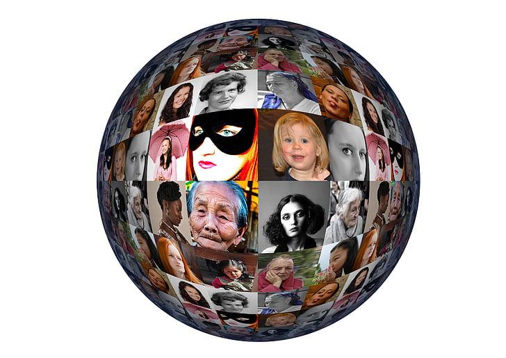 kvinde, kvinder, kvindernes internationale kampdag, internationale kvindedag, Portræt, ansigt, verdensfreden