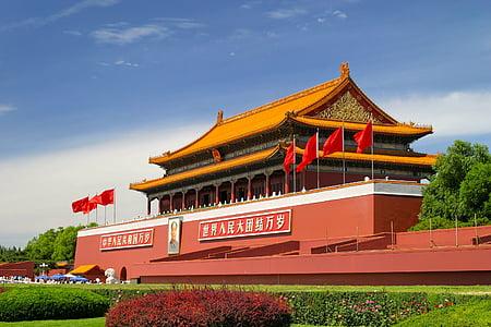 Architektura, Asie, Pagoda, pavilon, chrám, cíl, des