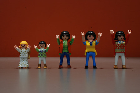 Playmobil, fila, raves