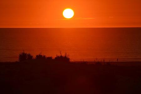 Mar, Atlàntic, Costa, l'aigua, sol, cel, França