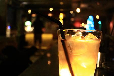 koktail, Bar, malam