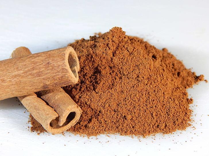 kaneel, stokken, grond, Spice, voedsel, ingrediënt, bruin