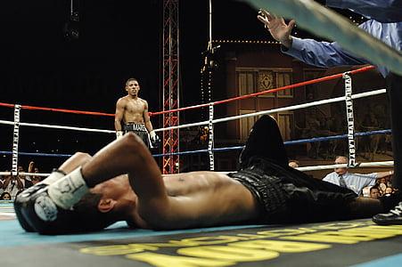 boxa, esport, boxejador, detonació, terme, combat, força