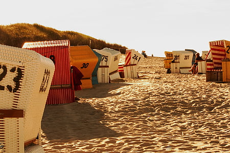 scaun de plaja, mare, nisip, cluburi, Marea Nordului, coasta, Marea Baltică