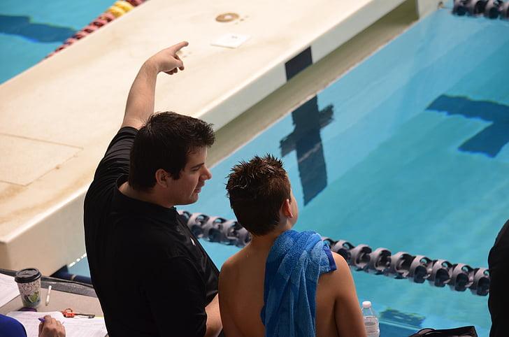 Natació, entrenament, piscina, entrenador, esport, nedador, recreatives
