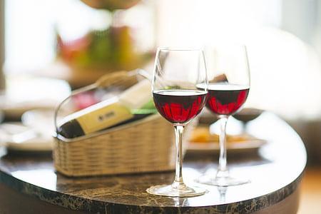 vino, rosso, cena, Hotel, Vacanze, celebrazione, felice