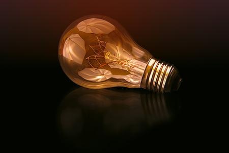 ljus, glödlampa, elektricitet, lampan, glödlampa, elektrisk lampa, ljusutrustning