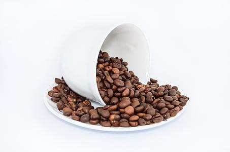cafeïna, cafè, grans de cafè, tassa
