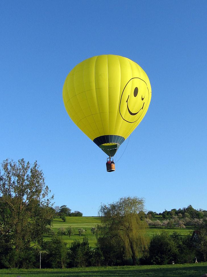 globus aerostàtic, vol en globus, globus, Inici, aterratge