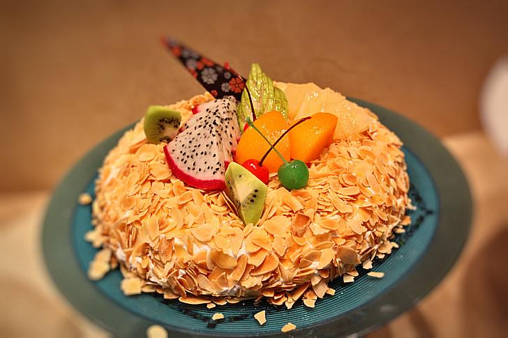 pastís, aliments, fruita, deliciós