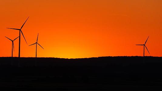 generació d'energia, producció d'energia, cel, brillant, taronja, colors, color
