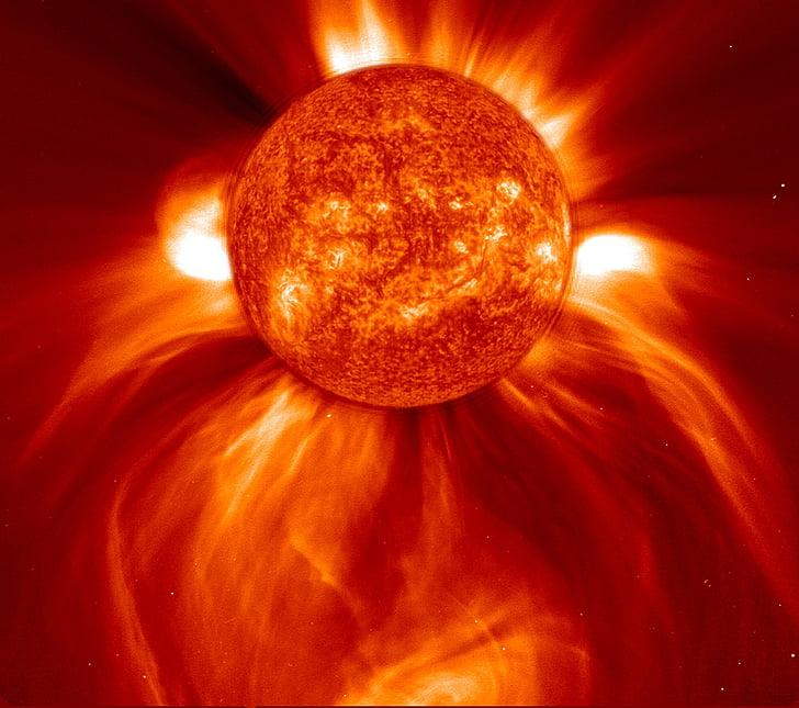 mặt trời, vành nhật hoa phóng hàng loạt, năng lượng, Space, Hot, nhiệt, ngôi sao