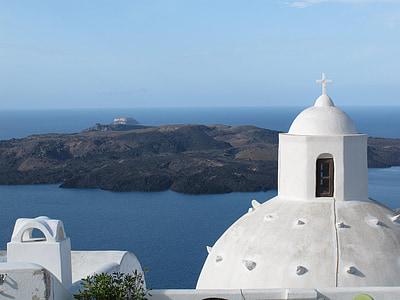 Grčka, Santorini, Crkva, putovanja, grčki, Otok, Europe