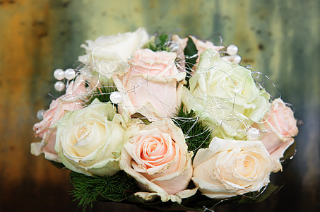 wedding bouquet, bouquet, roses, bridal bouquet, wedding, love, marry