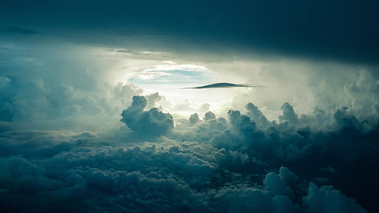 sky, clouds, sunlight, dark, cloud - sky, nature, atmospheric mood