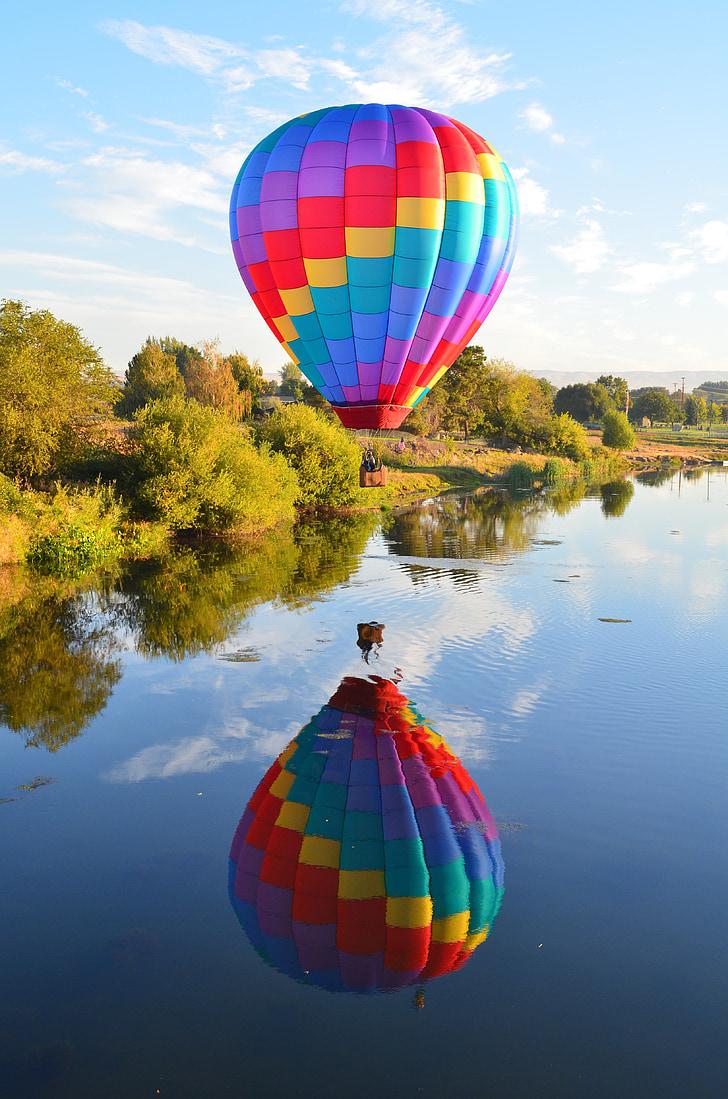 aire calent, globus, globus aerostàtic, aire, calenta, cel, vol