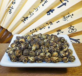 t-Stück, weißer Tee, Jasmin-Tee, jasminpearls, Asien, Zeichen, dragonpearls