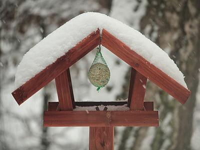 Птицеферма, мазнини топки, зимни, зависи от, емисия, птица семе, птица фидер