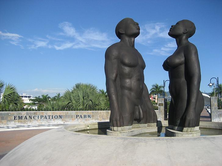 statue, man, woman, naked, erotic, love, emancipation park