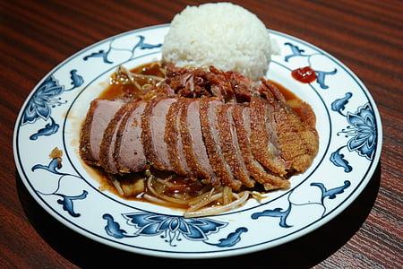 eat, lunch, chinese, roasted duck, duck, crispy duck, crispy