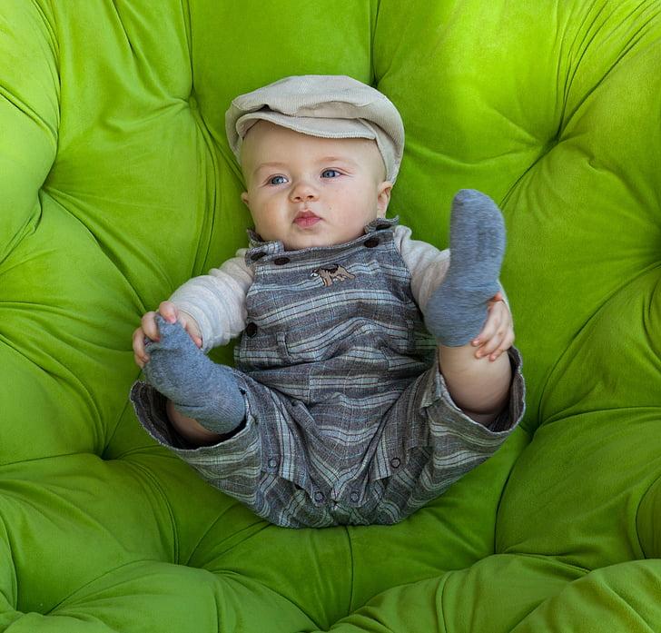 赤ちゃん, グリーン, 幼児, かわいい, 少年