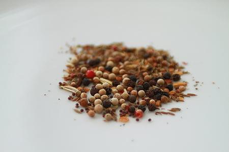 indijski poper, Indijski, poprova zrna, začimbe, kuhanje, poper, hrane