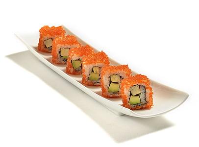 Rotlle de Califòrnia, maki de Califòrnia, Maki, peix, aliments, japonès, rotllo