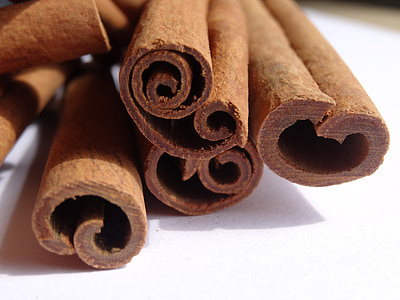 cinnamon, spices, bark