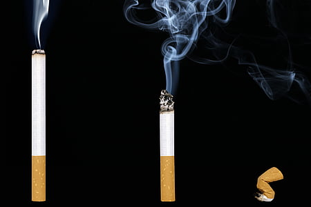 タバコ, 煙, ニコチン, 中毒, 灰, 喫煙, タバコ