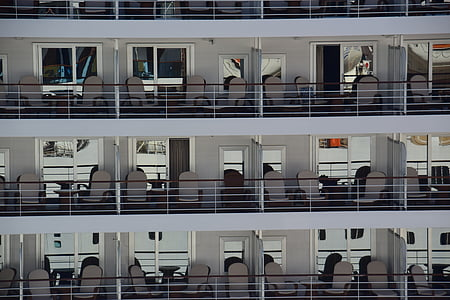 kryssning, fartyg, stugor, Quay, Quayside, resor, Ocean