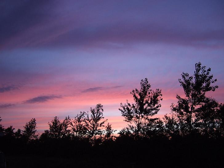το βράδυ, Λυκόφως, βραδινό ουρανό, πολύχρωμο ηλιοβασίλεμα, βράδυ κόκκινο