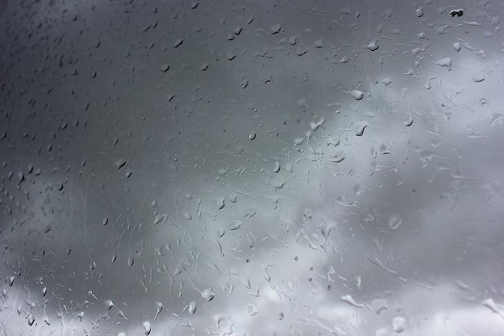 regn, droppar vatten, vatten, regnar, regnigt, glas, droppe regn