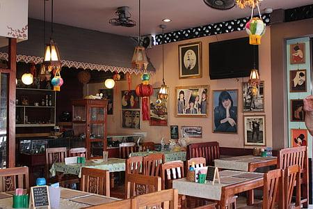 restaurant, inside, cafe, nostalgic, tourism, table, indoors