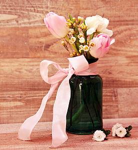 tulipes, Ranunculus, Gerro, flors, Gerro, flors de primavera, primavera