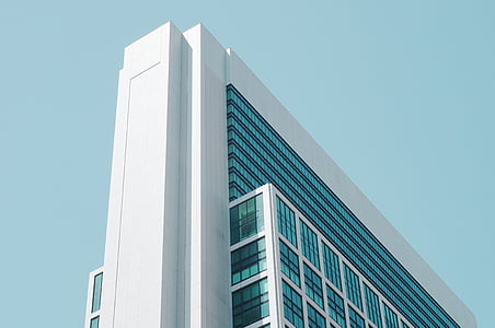 architecture, building, high-rise, low angle shot, perspective, modern, building exterior