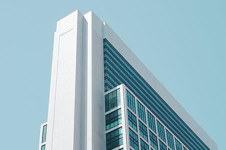 arhitektuur, hoone, kõrghoone, väike nurk shot, perspektiivi, kaasaegne, hoone välisilme