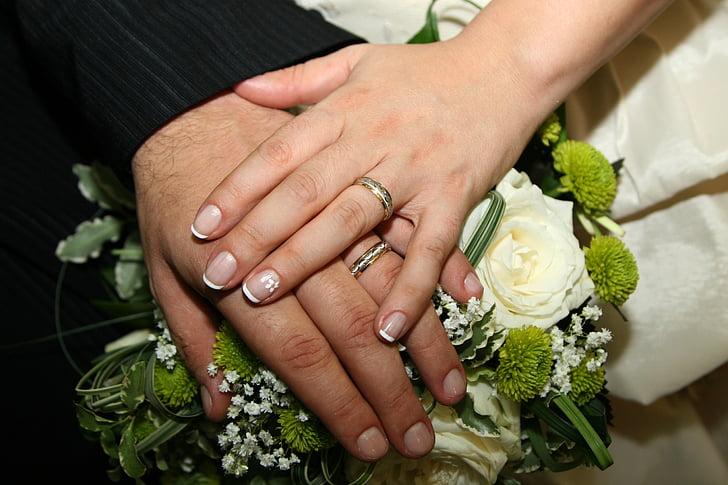 amour, mariage, paire parfaite