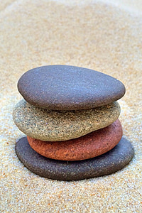 apilar pedres, equilibri, relaxar-se, pedra, pila, relaxació, còdols