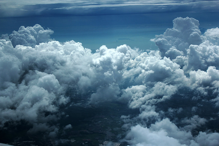 clouds, clouds above sky, cloudy sky, blue sky, nature, sky, cloudy
