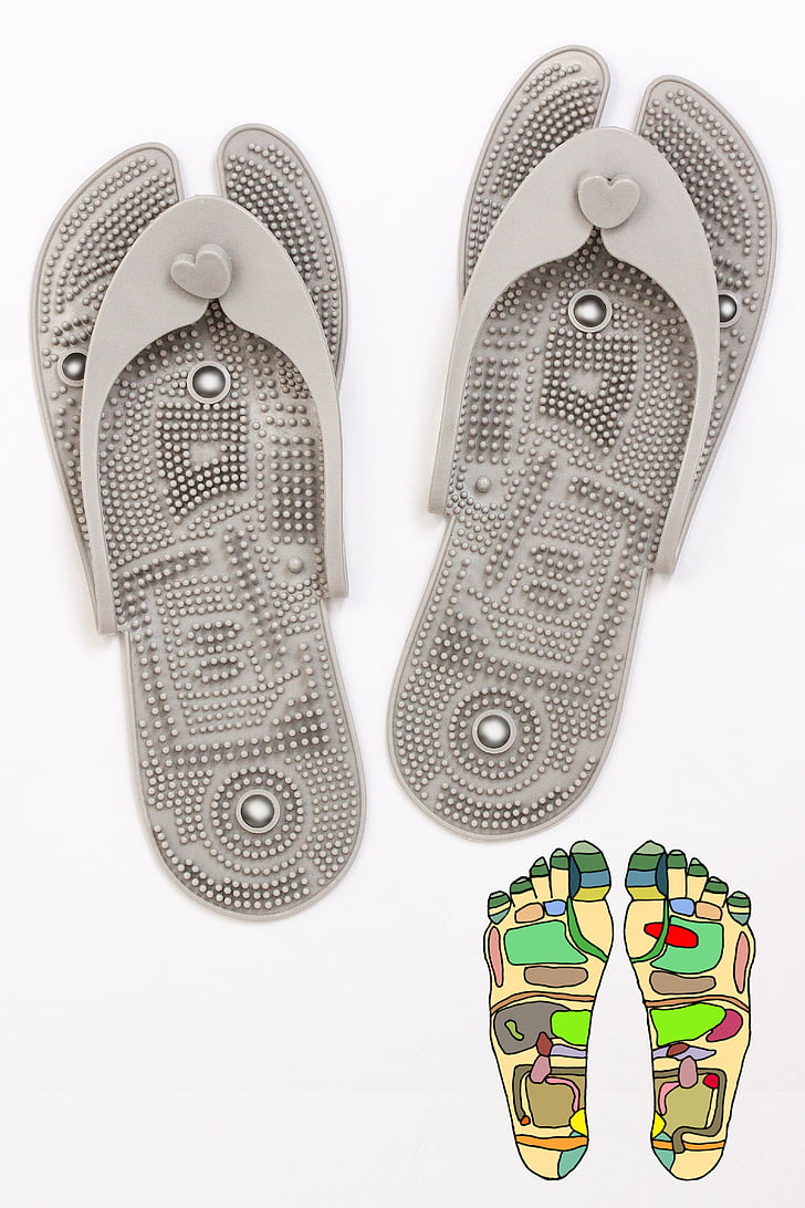 sandal jepit, Sepatu, Pijat refleks zona, Terapi ekspresi, pengobatan alternatif, Kesehatan, Terapi nyeri