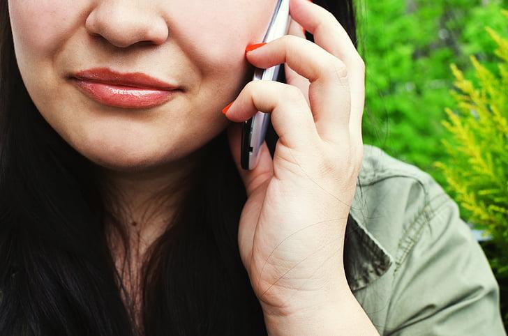 volanie, studené volanie, komunikácia, kontakt, tvár, Ručné, mobilný telefón