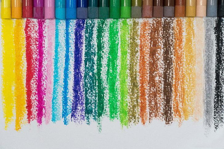 color, pastel d'oli, colors, espectre de color, pintura, document, patrons de colors